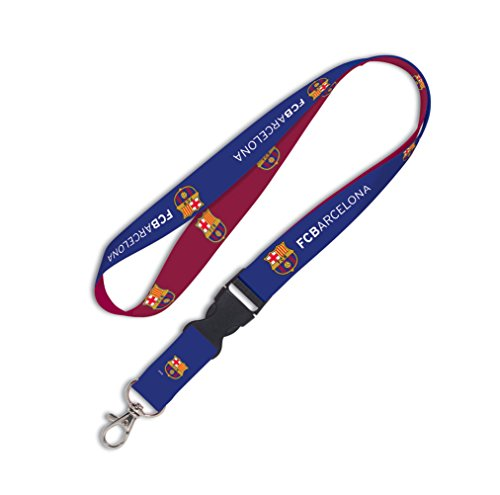 (WinCraft Soccer FC Barcelona Lanyard with Detachable Buckle,)