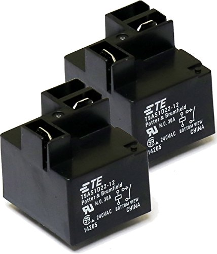 Brumfield Relay - TE Potter & Brumfield T9AS1D22-12 ( Pack of 2) 30A relay 240VAC 30 amps 240 volts, SPST NO