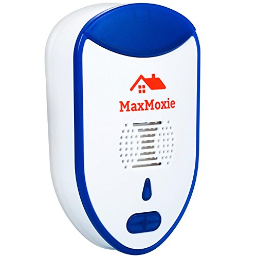 (MaxMoxie Ultrasonic Pest Repeller Humane Mice Control Newest Electronic Insect Repellent Easiest Way to Reject Rodent Bed Bug Mosquito Fly Cockroach Spider Rat Home Animal No Kill Plug in 2 Pack )