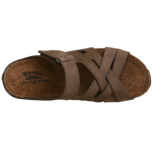Sandalo Da Donna Sandalo Con Passo A Molla Marrone