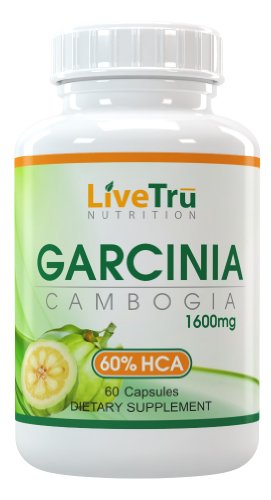 Garcinia Cambogia Extrait Pur 1600mg Avec 60% d'extrait de HCA pour la perte de poids maximum