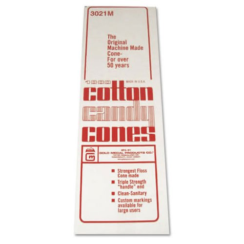 Cotton Candy #3021 - Plain Floss Cones, 4,000/cs