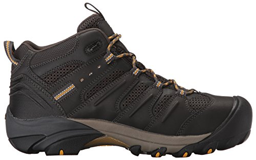 KEEN Utility Men's Lansing Mid Waterproof Industrial and Construction Shoe, Raven/Tawny Olive, 10.5 2E US by KEEN Utility (Image #7)