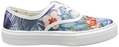 Victoria Ingles Flores Y Corazones - Zapatillas de deporte Unisex Niños Blanco - Blanc (20 Blanco)