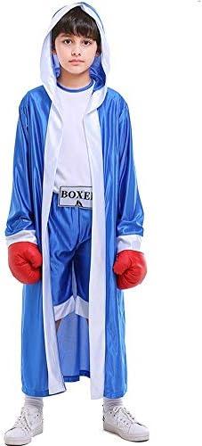 LOLANTA Chicos Boxeo Disfraz con Capucha Niños Halloween Knock out ...