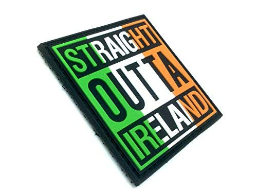 Straight Outta Irlanda para Airsoft y Paintball PVC parche Moral