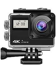 Lipa AT-Q61CR 4K Ultra HD action camera IPS Wifi/Met Mounts/action cam/IMX sensor / 4K 60 FPS / 24 MP / 21 mounts/Met remote/Elektronische beeldstabilisatie/waterproof case/dual screen