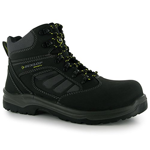 Dunlop Mens Footwear Texas Safety Boots Work Shoes Black 8.5 (42.5)