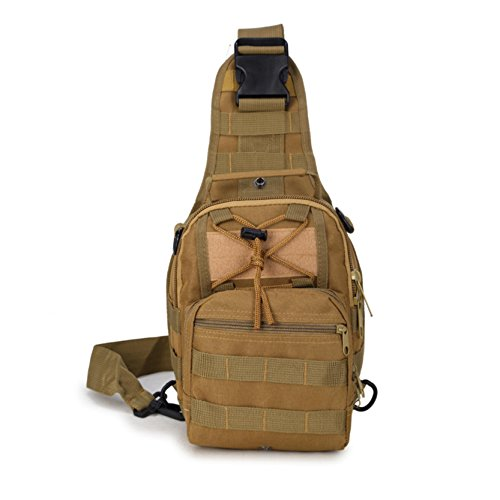 Travel Military Tactical Army Camo Sling Backpack Chest Bag army green - 8