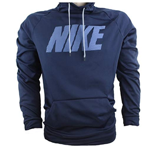 - Nike Mens Therma Training Pull Over Hooded Sweatshirt Obsidian Blue 922440-451 Size Small