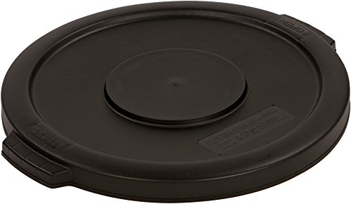 Carlisle 34101103 Bronco Round Waste Bin Food Container Lid, 10 Gallon, Black (Plastic Waste Bins)