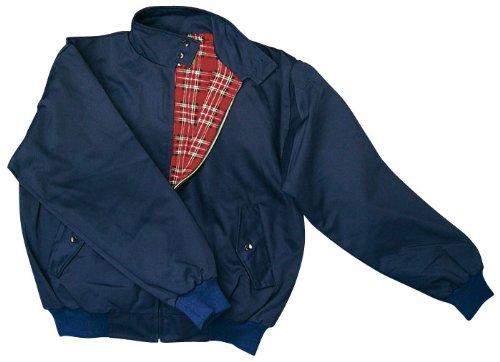 """""""harrington"""" veste avec doublure à carreaux twill qualité xL/xL (bleu marine)"""