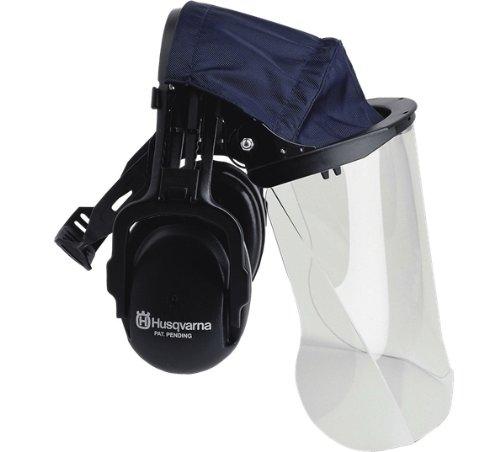 Husqvarna 505665348 Plexiglas Face Visor With Headband Hearing Protectors (Protector Hearing Band)