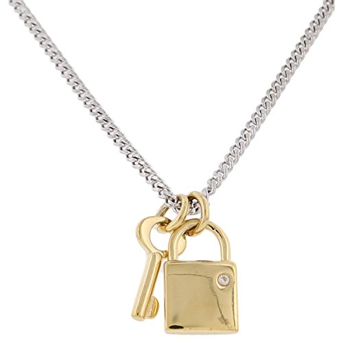 MARC BY MARC JACOBS Argento Lock And Key Pendant Necklace - Lock And Key Pendants