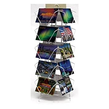 Postcard Display Stand Amazon 41 Pocket Wire Countertop Postcard Spinner Display 31
