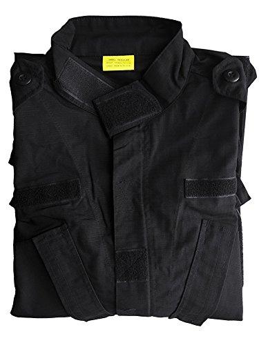Tacvasen Uomo Nero Esercito Militare Uniforme Camicia Camo 77frFg