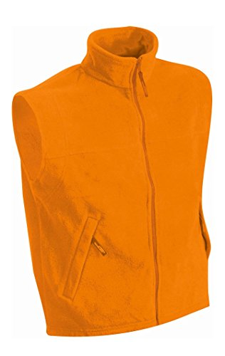 In Fleece Vest Orange Termico Gilé Pesante 15A00q