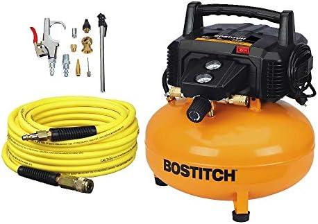 [해외]갤런 150 PSI 오일 프리 컴프레서 키트 (리뉴얼) / BOSTITCH BTFP02012-WPK 6-Gallon 150 PSI Oil-Free Compressor Kit (Renewed)