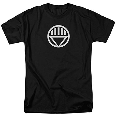Green Lantern Black Lantern Corps Logo T Shirt & Exclusive Stickers (X-Large) -