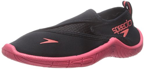 Speedo Kids Surfwalker Pro 2.0 Water Shoes (Little Kid/Big Kid), Black/Pink, 5 US Big Kid