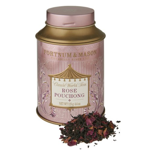 Fortnum & Mason British Tea, Rose Pouchong 125g Loose Tea in a Gift Tin Caddy (1 Pack) - ro23s1 - USA Stock