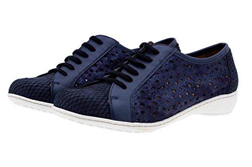 Confort Lacets 1752 Piesanto Chaussures En Chaussure Confortables Amples À Marino Femme Cuir Hxwnnqg8EU