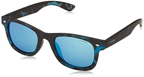Polaroid Sunglasses Kids' Pld8009n Polarized Wayfarer Sunglasses, Havana Blue/Gray Blue Mirror Polarized, 45 - Sunglasses Polaroid Kids