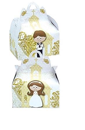 Verbetena 011900039 - Cajita comunión gold, Bolsa 24 unidades: Amazon.es: Juguetes y juegos