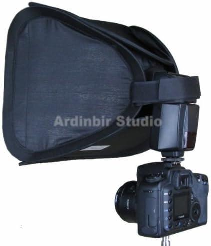 7D IV 450D III 500D 50D Xsi 60d 40D T3i SX20IS T2i 10D 350D 400D Universal 10 25cm Easy Fold Open Setup Flash Softbox Diffuser for Canon EOS 600D SX1IS XS 1D Mark II 20D 1Ds 550D 5D Mark II Xti T1i 1000D SX10IS XT