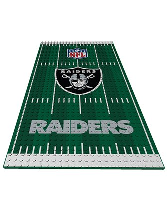 Oakland Raiders OYO NFL Display Plate Football Field for Minifigure