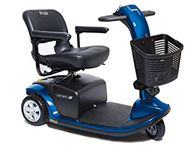 VICTORY 9 Pride Mobility 3-wheel Electric Scooter SC609 BLUE + Challenger Accessories