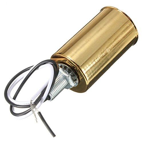 Lights & Lighting - Gold E14 Ceramic Iron Screw Base Round Light Bulb Lamp Socket Holder Adapter - E14 Bulb Holder Light Socket Gold Round - (Ball Socket Round Nozzle)
