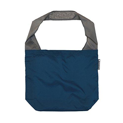 FLIP AND TUMBLE – Premium Reusable Grocery Bag - perfect Shopping Bag, Beach Bag, Travel Bag, Navy