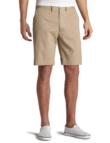 Nautica Sportswear Mens Flat Front (Nautica Men's Twill Flat Front Short,True Khaki,36)