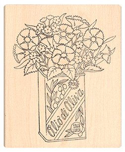 (Pink Ink Stamps Tuscan Flowers Stamp)