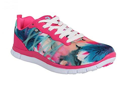 Zapatillas deporte de Mujer BASS3D 41097 TEXTIL FUCSIA