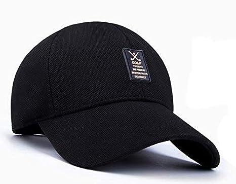 87fab16c36889 Summer Man Leisure cap Outdoor Baseball Caps Adjustable Hat Black ...