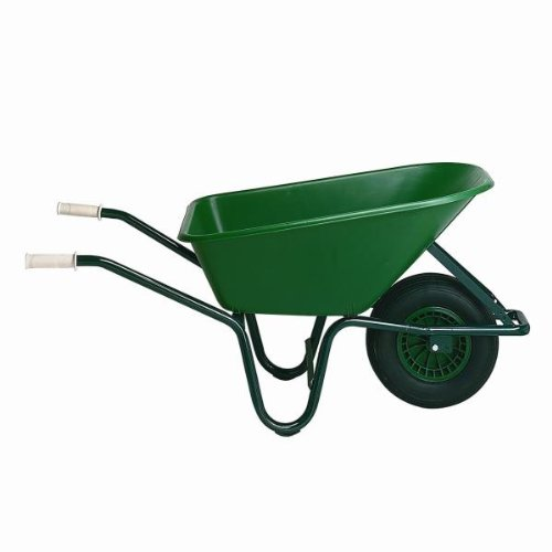 Attirant Tierra Garden H10 Pigmy Polyethylene Wheelbarrow With Tubeless Tire, Green  By Tierra Garden