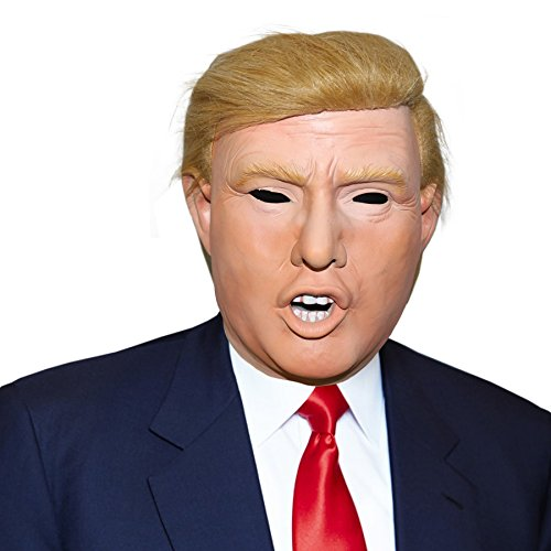 President Donald Trump Celebrity Latex Mask Ideal for Parties Halloween Orange]()