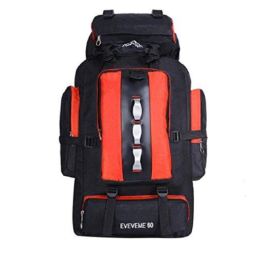 ZC&J 56-75L mochila de alpinismo de gran capacidad, al aire libre multi-funcional hombres y mujeres mochila impermeable en general, transpirable, resistente al desgaste, carga, cómoda mochila de alta  D