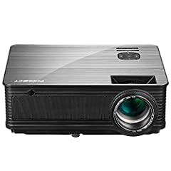 If you are looking for a high-quality economical HD projector, then PHONECT is definitely your best choice. Why choose PHONECTprojector: 1)3,600 high lumens of brightness, HD support and gorgeous color PHONECTprojector will reproduce whate...