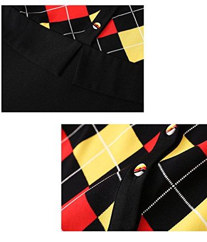 JFin Linie XXXL Rock Lotusblatt Kleid A Zauber Spitze Langärmelige Damen Size Large Black TwqgzrTO