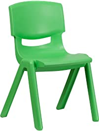 Flash Furniture Green Plastic Stackable ...