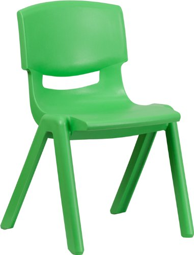 Flash Furniture Green Plastic Stackable School Chair with 15.5'' Seat Height by Flash Furniture