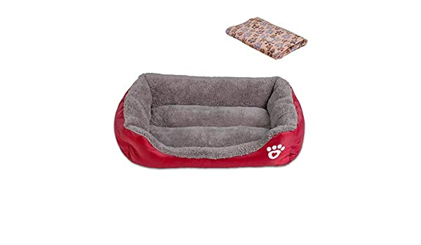 Amazon.com : Cookisn Candy Color Pet Dog Bed Soft Puppy Cushion Winter Warm Cat Bed Pet Sofa Bed for Dogs Chihuahua Labrador Bed Dog Blanket Wine Red 2XLBed ...
