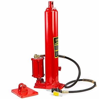 2 in1 8 ton air Manual Hydraulic Ram Jack Pump Engine Lift Hoist Cherry Picker