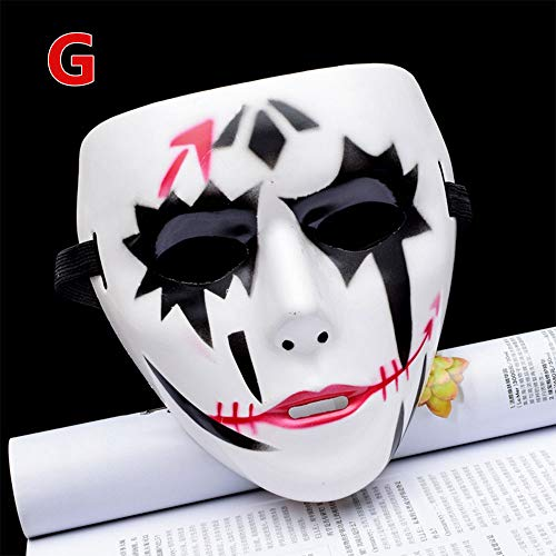 OYJJ Halloween Ghost Dance Horror Mask Plastic Halloween Mask Thriller Movie Halloween Supplies-#2 ()