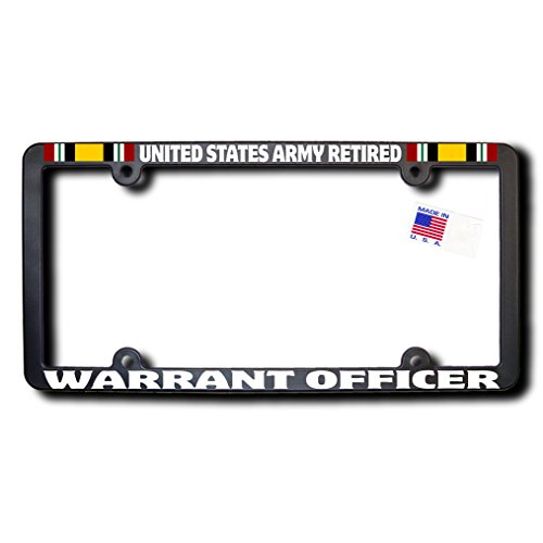 United States Army Retired WARRANT OFFICER License Frame w/Reflective Text & Iraq ()