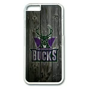 "iphone 5c Case,Milwaukee Bucks Wood Hard Shell Transparent Edges Case for iphone 5c("")"