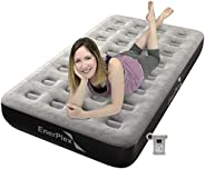 EnerPlex Camping Airbed with High Speed Wireless Pump Never Leak Luxury Air Mattress Single High Inflatable Bl